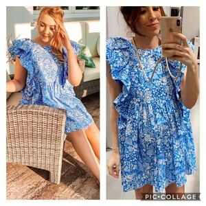 NWT Zara 💙Bloggers Fave💙 Floral Ruffle Dress